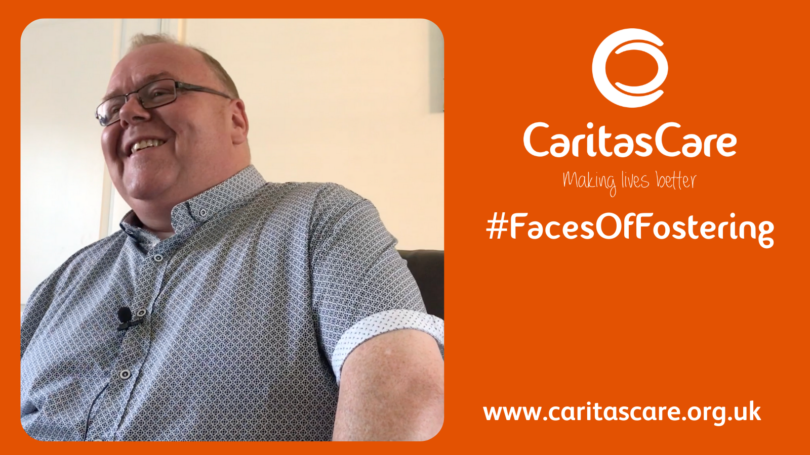 #FacesOfFostering George on Fostering and Caritas Care