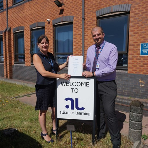 'Alliance Learning retains the Matrix accreditation.'