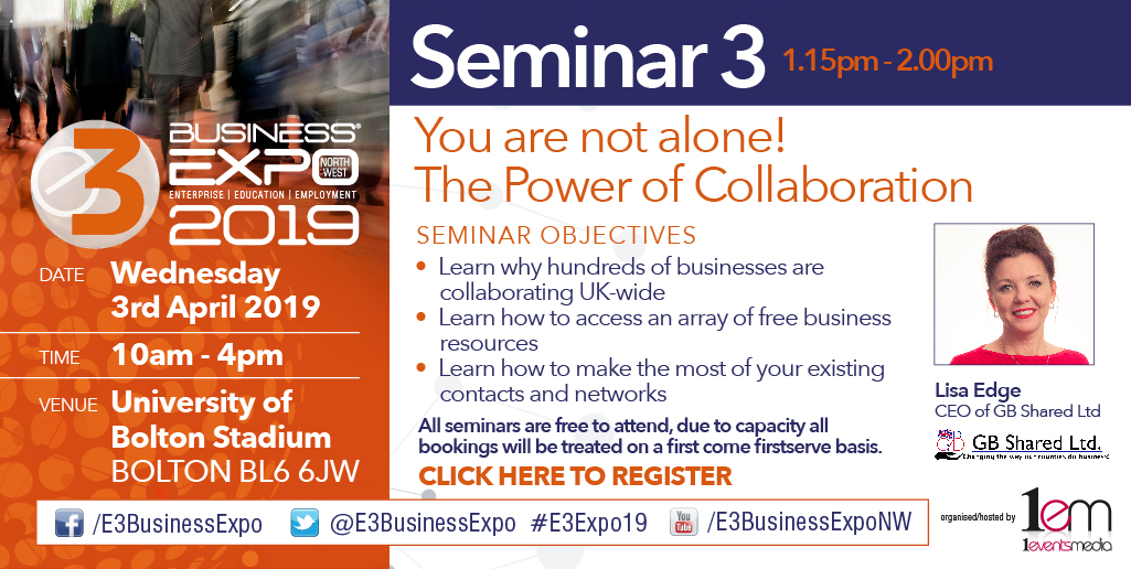 Business Collaboration Under the Spotlight at E3 EXPO, 3rd April 2019